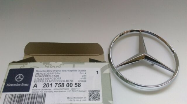 Genuine Mercedes-Benz W201 W124 Front grill Badge emblem logo A201880008802