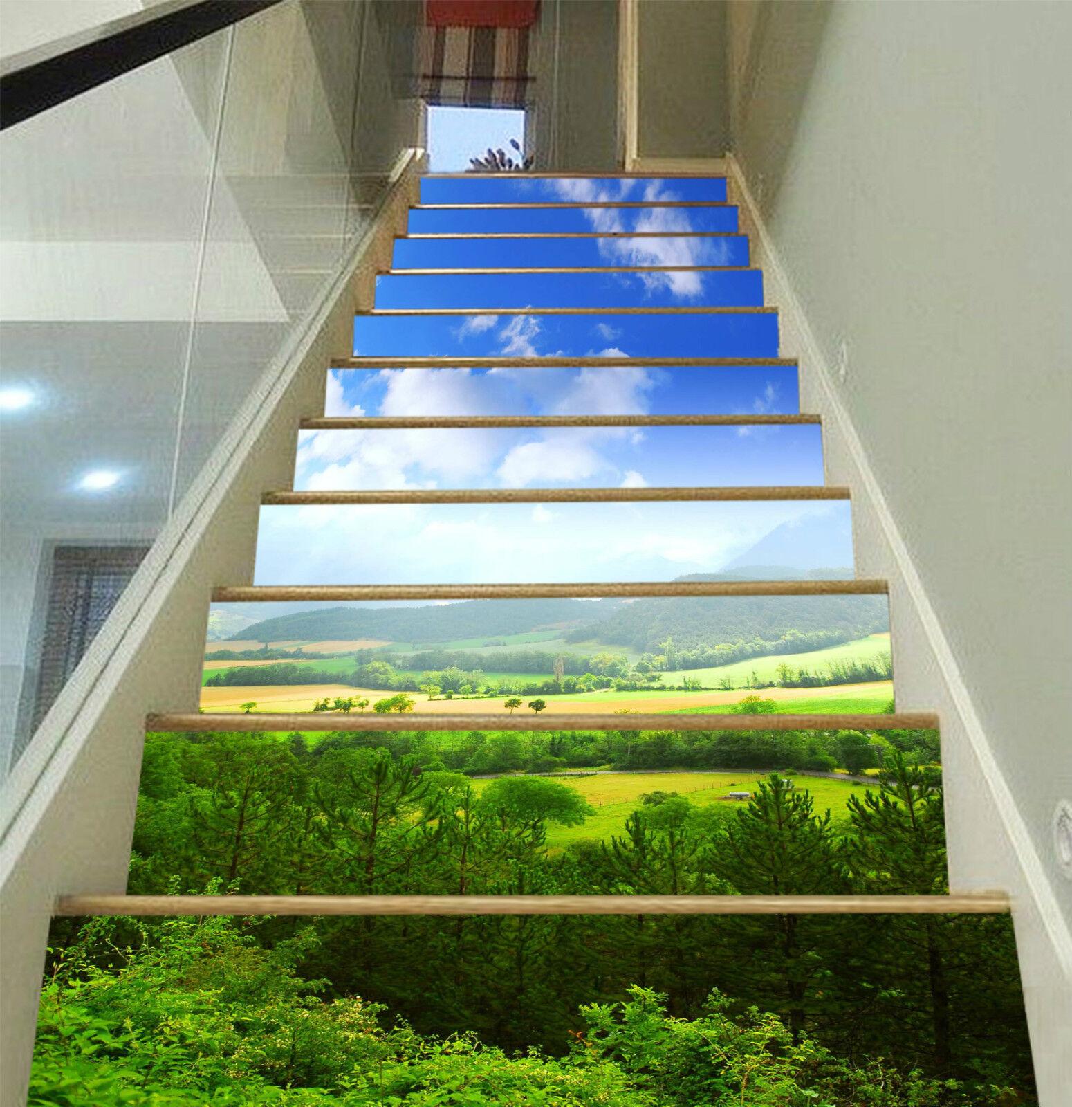 3D Prrie Wald 279 Stair Risers Dekoration Fototapete Vinyl Aufkleber Tapete DE