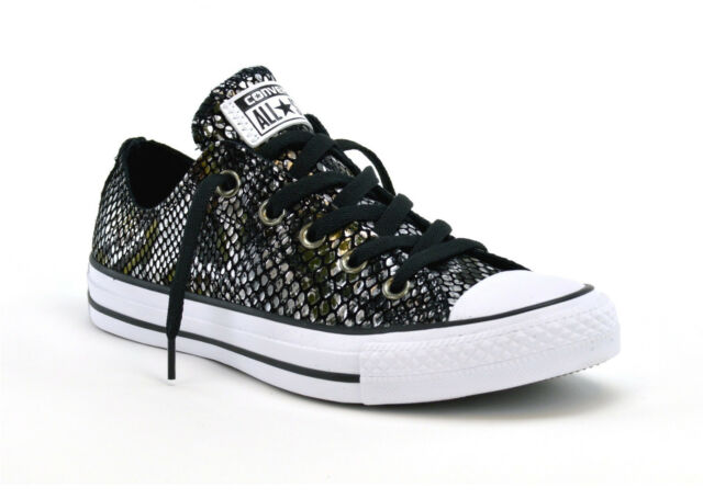 94a4fb256d1 CONVERSE CT ALL STAR LEATHER SNAKE OX - 557981C -WOMENS SNEAKERS - BRAND NEW