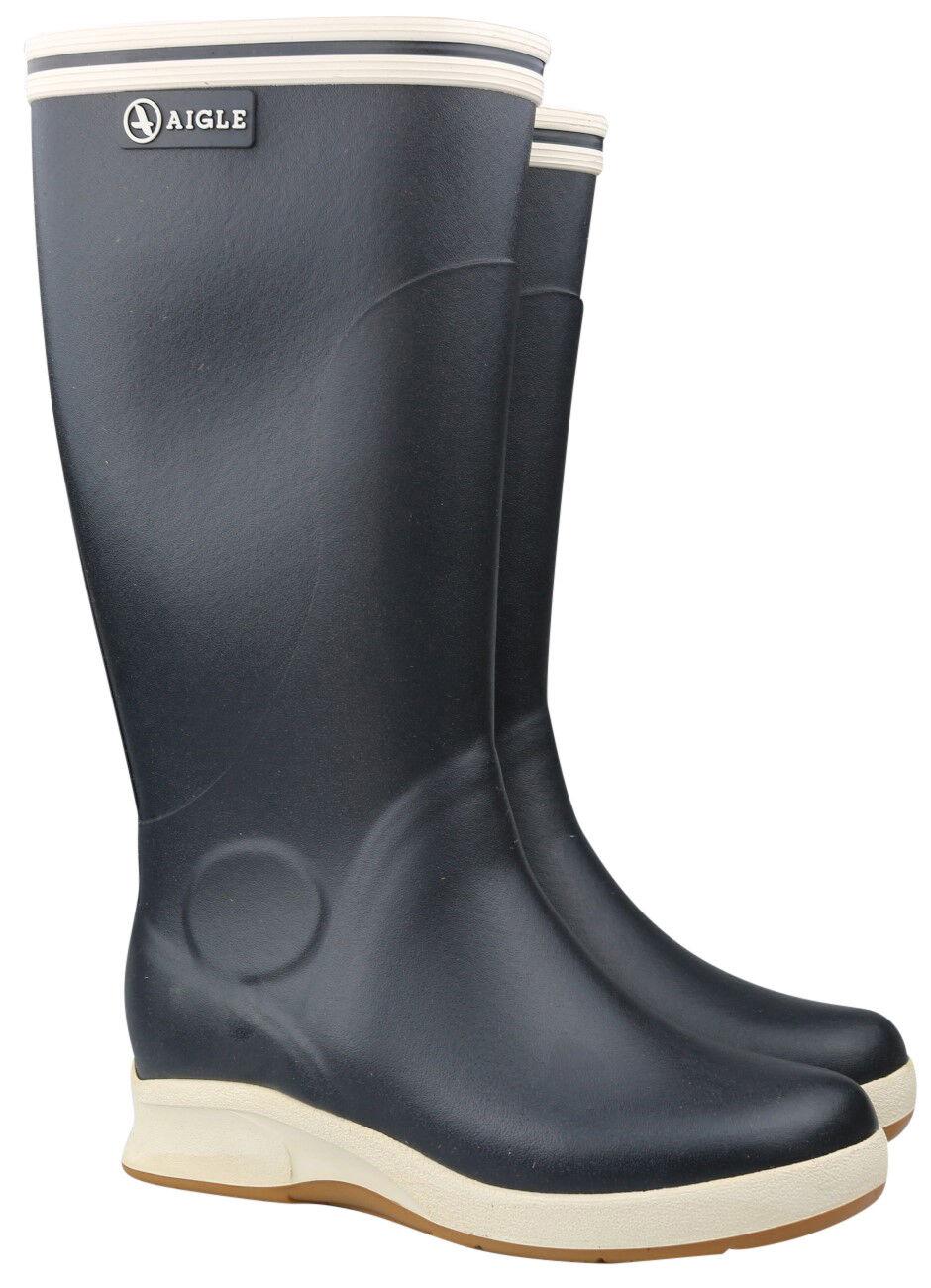 Entrega directa y rápida de fábrica Aigle Skey marine marine marine botas de goma señora caballero botas 37362 nuevo & OVP  excelentes precios