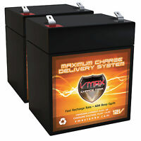 Qty: 2 Vmax V06-43 6ah Sla 12v Battery Replacement Ups Hewlett Packard R3000xr