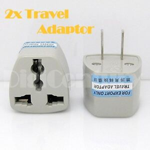 New 2x Australia Travel To China Japan Thailand Mexico Power Adaptor Plugs 2 Pin Ebay
