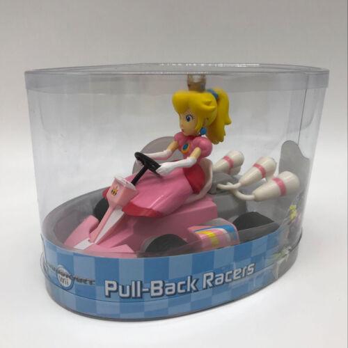 "Super Mario Kart Princess Peach Pull Back Racer PVC Plastic Figure Car Toy 5/"""