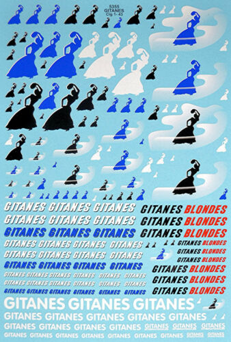 Gitanes Sponsoren Bogen No.2-1:32 Decal Abziehbilder