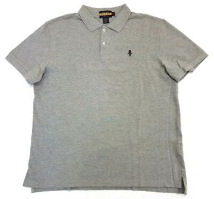 Rugby-Ralph-Lauren-Skull-And-Bones-Gothic-R-Polo-Shirt-Grey-Size-XL-Mens