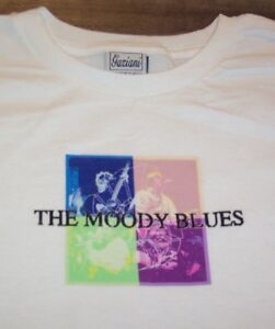 Details about WOMEN'S TEEN THE MOODY BLUES BAND T-shirt MEDIUM NEW