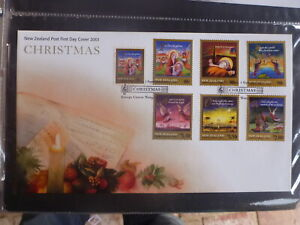 NEW-ZEALAND-2001-CHRISTMAS-SET-7-STAMPS-FDC-FIRST-DAY-COVER