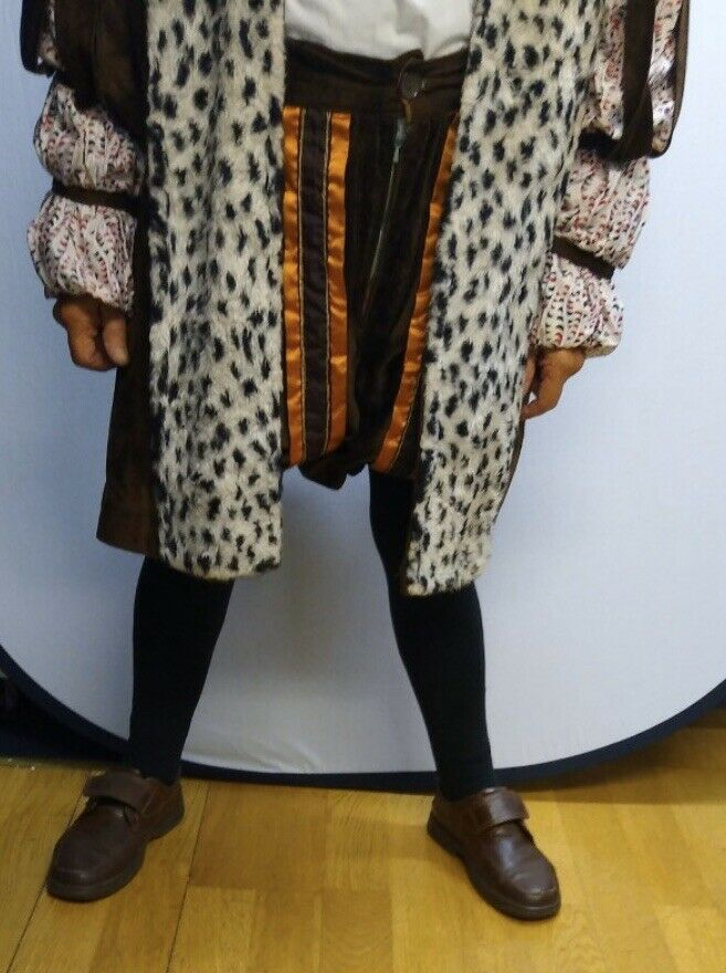 Henry VIII brown And Orange, Ex Hire, Amazing Condition, Theatrical,Fancy Dress