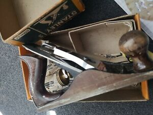 Vintage Stanley Bailey No 3 Woodworking Plane with original box and tag
