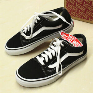 Details about VAN Old Skool Skate Shoes Black/White All Size Classic Canvas  Sneakers UK SALE