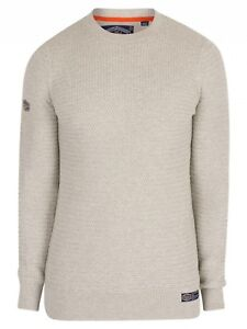 Cotton Men's Sizes Academy Beige xxxl Crew Textured Neck Knit Superdry S Jumper f4qARwA