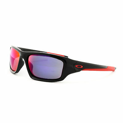 f9521800449 Oakley Valve Sunglasses OO9236-02 Polished Black Frame Positive Red Iridium  Lens