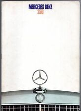 Mercedes-Benz 250 Saloon W114 1968-69 UK Market Sales Brochure