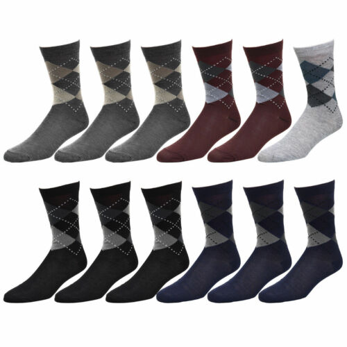 Discount 12-Pack Men's Cotton Dress Socks Casual Crew Fashion Multi Colors US Seller . supplier