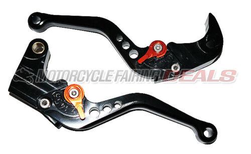 Suzuki GSXR 1000 2005 2006 Adjustable Shorty Brake Clutch Lever Parts Black