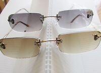 4 Pr Rimless Premium Tint Reading Glasses Select Power Sun Reader Mens Womens