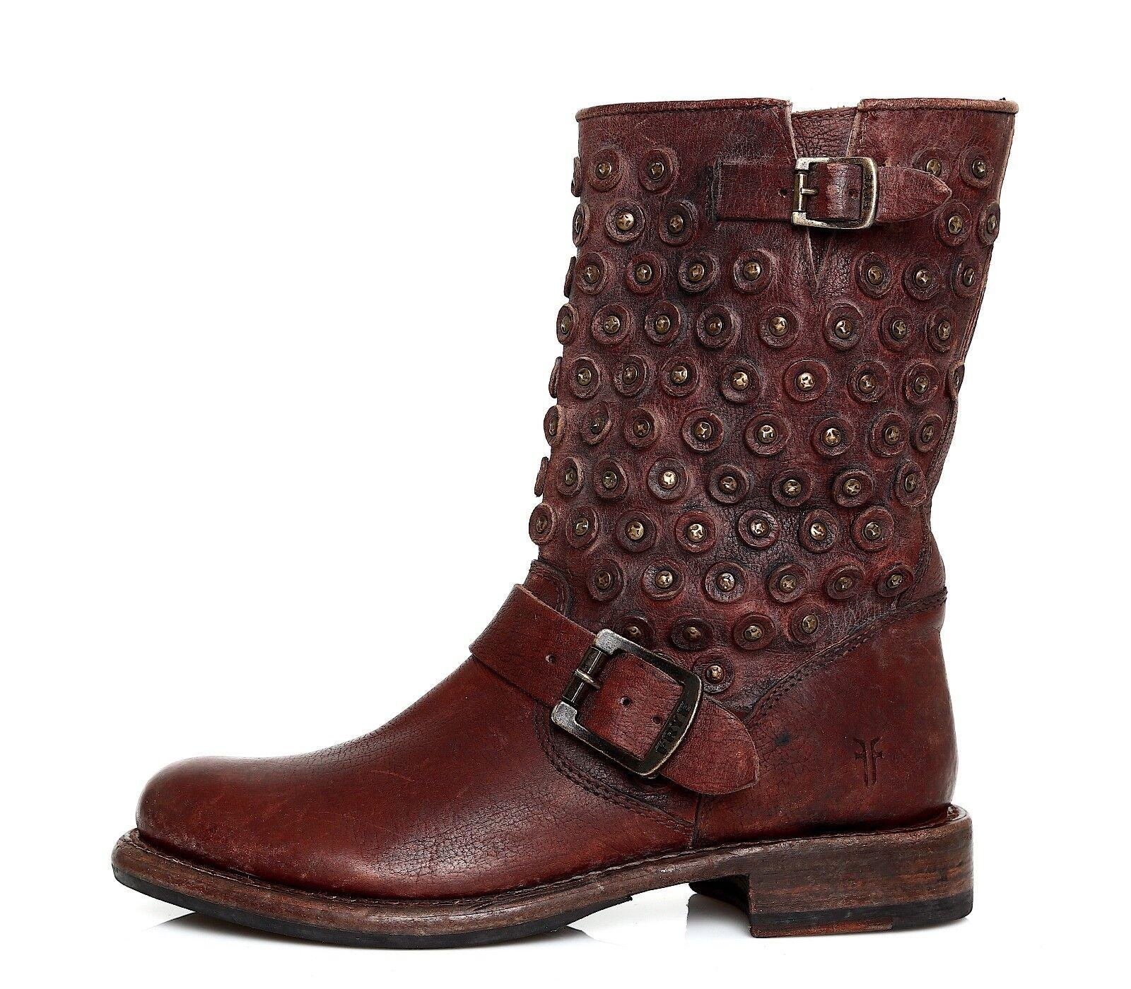 Frye Jenna Disc Short Leather Stiefel braun damen Sz  5.5 B 5947  Sz 90afb6