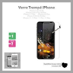 Verre-trempe-Pour-Iphone-2-5D-Haute-protection-5-6-7-6S-5-X-XR-XS-MAX-11-PRO