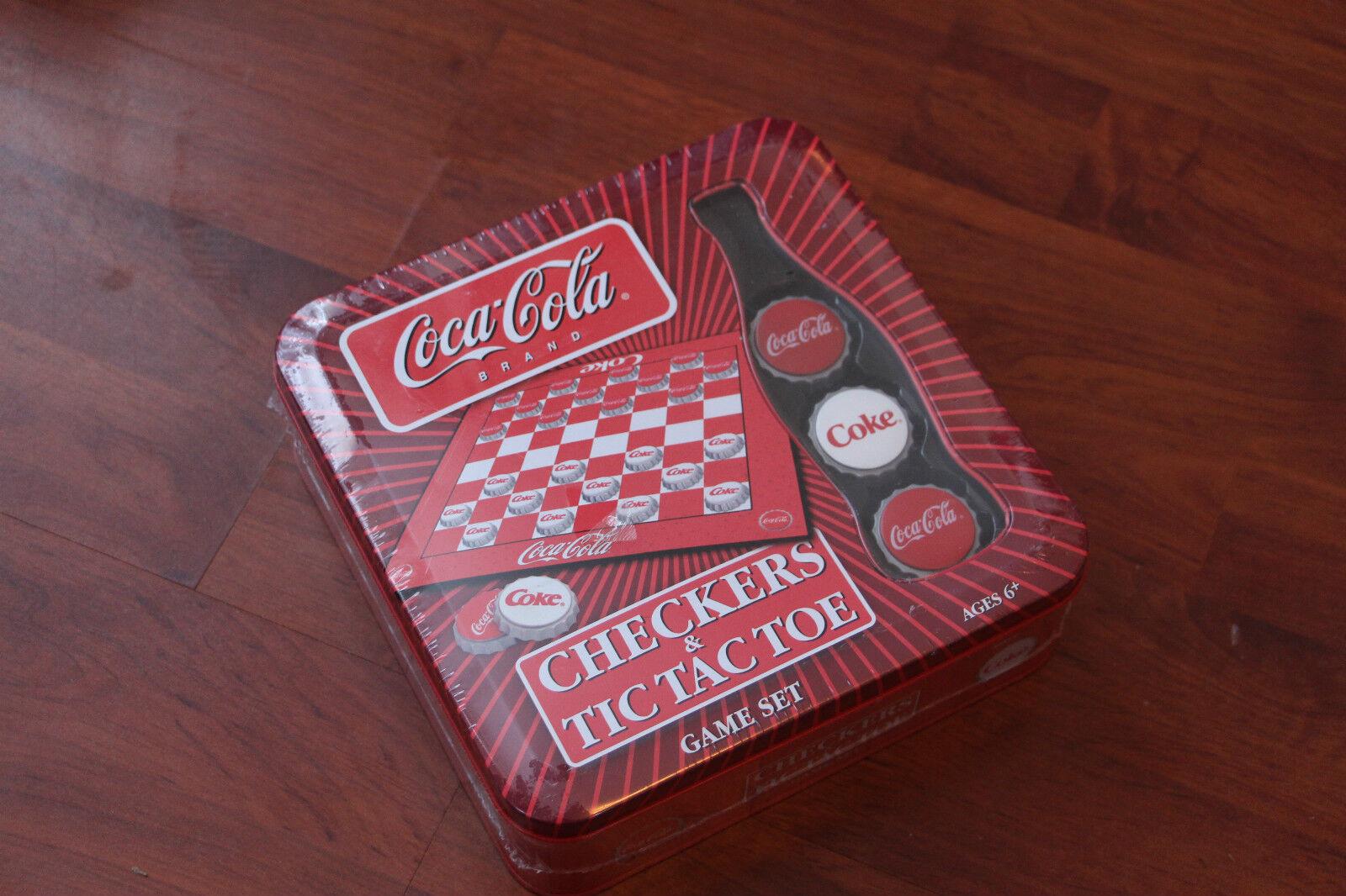 NUOVO E SIGILLATO USA versione Coca-Cola immersioni / DAMA e Tic Tac Toe.