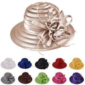 New-Women-Lady-Kentucky-Derby-Church-Bridal-Wedding-Hat-Wide-Brim-Dress-Hats