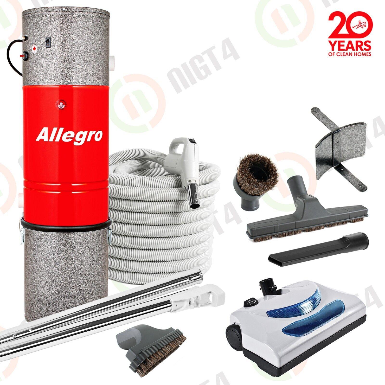 New Allegro Central Vacuum 3,000 sq feet - 30' Hose Electrolux Powerhead Kit