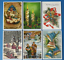 Collection-of-6-New-Vintage-Style-CHRISTMAS-Postcards-Noel-Greetings-CJ6 thumbnail 1