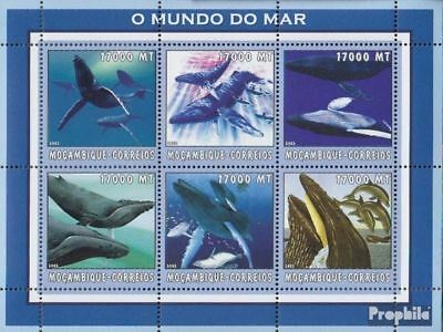 Never Hinged 2002 World Of Marine Strong-Willed Mozambique 2680-2685 Sheetlet Unmounted Mint Africa Stamps