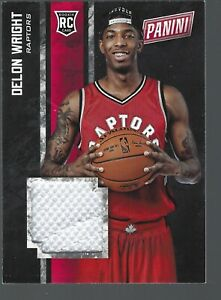 newest b83b1 46502 Details about 2015 Panini Black Friday Rookie Materials Jerseys #13 Delon  Wright
