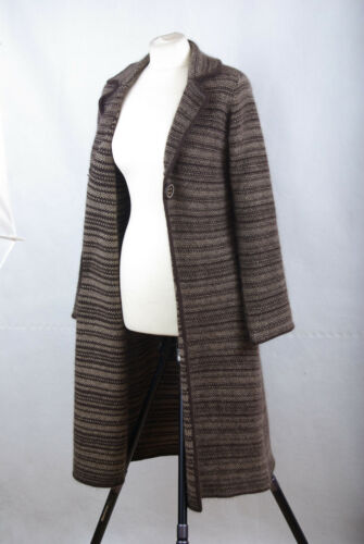 cardigan et long brun Uk12 12 laine en Monsoon agneau P535 mélange Eur 40 Manteau qw8ZCcx