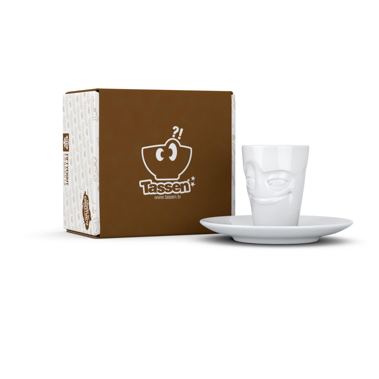 Fiftyeight TV TV TV 4-er Espresso Tassen Mugs  Becher mit Henkel  Untert. +Serviette c9ad1c