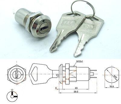 2PCS Key Ignition Switch ON/OFF Lock Switch Plastic Handle Phone Power lock K3