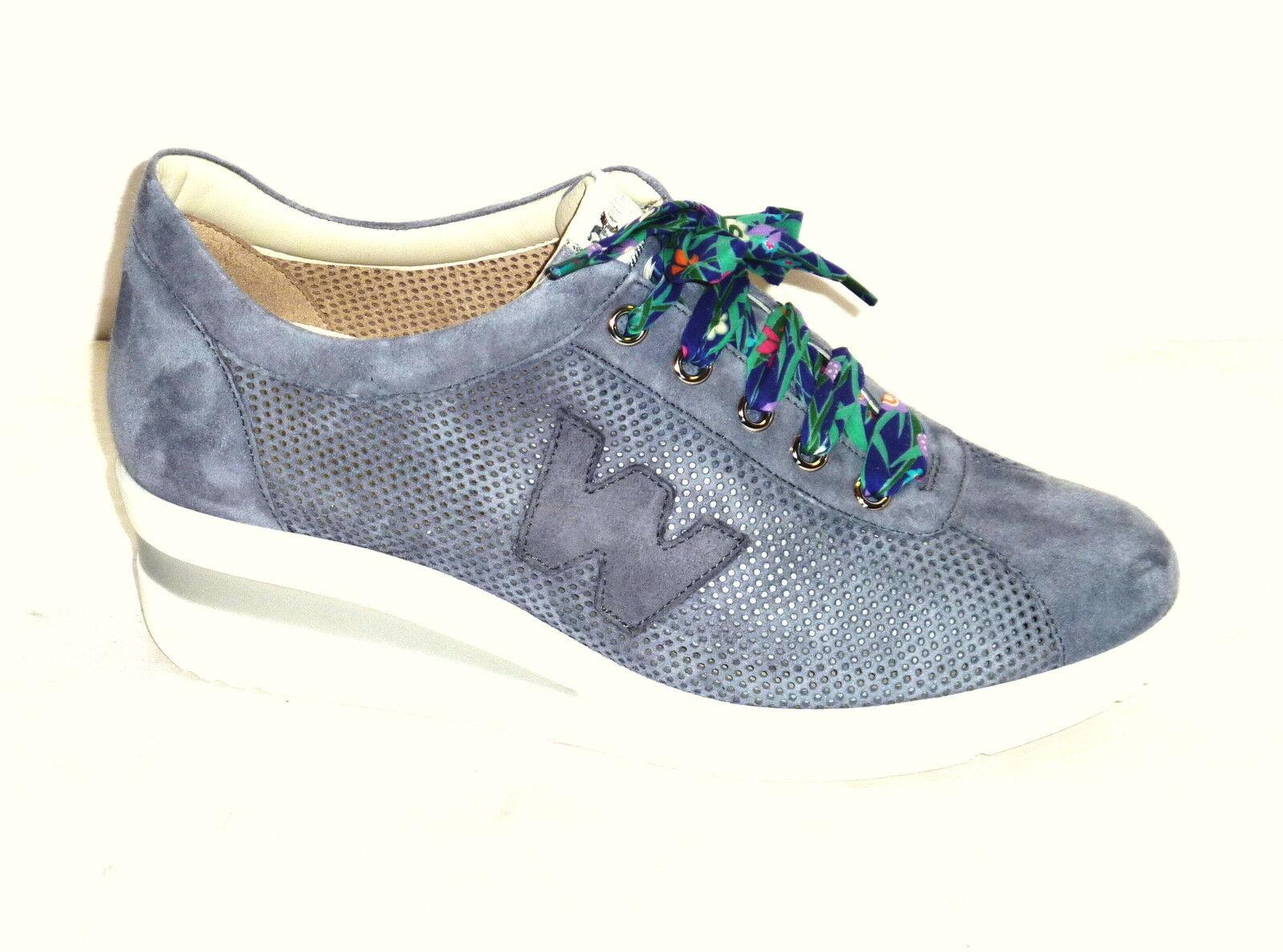 Los últimos zapatos de descuento para hombres y mujeres R20110 MELLUSO ZAPATILLAS PIEL NOBUCK VAQUEROS PERFORADO MODE CÓMODA n. 39