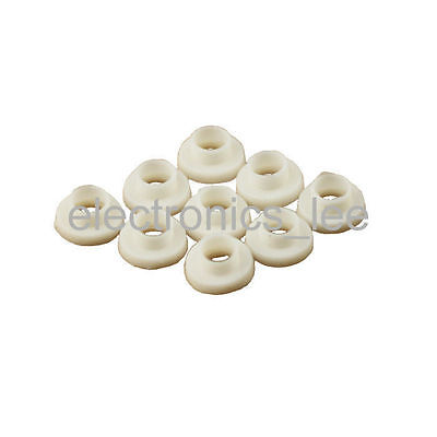 100pcs TO-3P TO-247 White Transistor Plastic Washer Insulation silicone