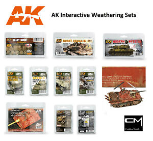 Ak Interactive Weathering Peinture Sets-ajouter Réalisme à Votre Modèle Kit/s-afficher Le Titre D'origine