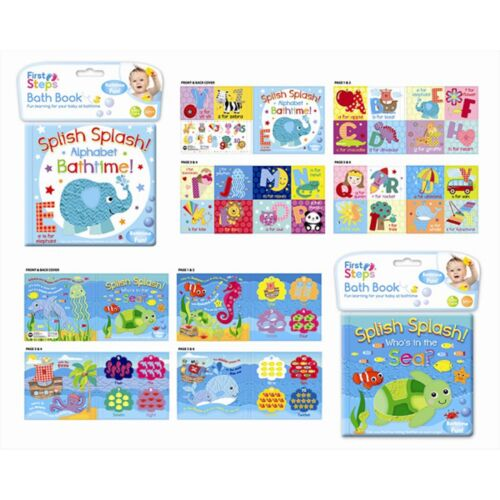 BRAND NEW BABY BATH BOOK PLASTIC COATED FUN EDUCATIONAL TOYS CHILDREN TODDLER