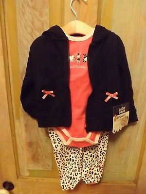 NWT NIKE Baby Girls/' 3 Piece Outfit Chalk Blue /& Coral 6-9 Months