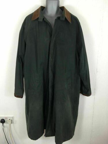 Da Uomo McKenzie Tribe verde scuro cotone bottoni lana foderato caldo lungo cappotto di grandi dimensioni  CZML1