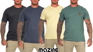 Klassisches mazine Herren T-Shirt Richmond T Rundhals-Ausschnitt unifarben weich