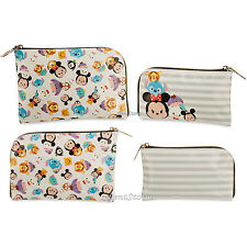 TSUM TSUM Character TRAVEL Pouch Cosmetic Bag Purse Set BIG SMALL Disney Store