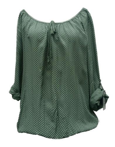 Camicia Tunica Taglia Unica Italy camicia manica lunga manica corta ITALIA verde quadrettini oversize