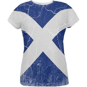 Scotland All Distressed Womens Grunge Shirt Scottish Flag Over T twpnqIZ6PZ