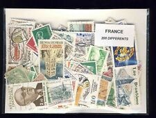 France 200 Stamps Different Obliterated