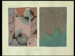 Joubert Et Petit, Tapis Art Deco - 1929 - Pochoir, Dim