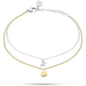 Bracciale MORELLATO INSIEME SAHM08 Acciaio Gold Dorato Farfalla Cuore Swarovski