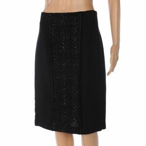 Vetement-Jupe-Noir-Tweed-Detail-Taille-36-UK-10-Wp-267