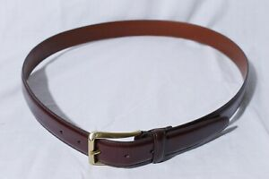 Coach-Men-039-s-Handcrafted-Cowhide-Brown-Leather-Belt-Solid-Brass-Buckle-38