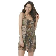 Realtree Swim Wear Cover Up Green Camouflage Trees Racerback Tank NEW Medium M