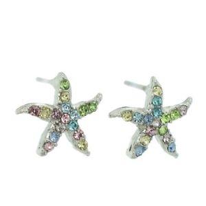 4a27a290d Image is loading Starfish-W-Swarovski-Crystal-Multi-Color-Ocean-Sea-