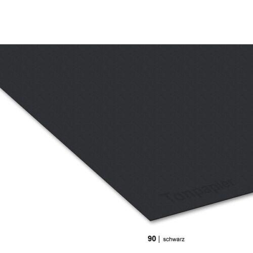 0,33€//Bogen 10er Pack 90 schwarz Gewicht 130g//m² Tonzeichenpapier 50 x 70 cm