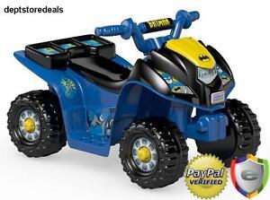 Kids Boys Car Battery Power Wheels Batman Comfortable Ride Atv